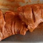 Rotisseriegrillat fläsklägg