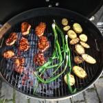 Chilimarinerade kotletter, med BBQ-potatis