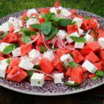 Melon & Fetaostsallad med mynta