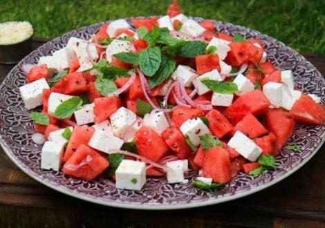 vattenmelon fetaost mynta