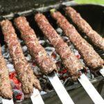 Kobideh kebab på spett